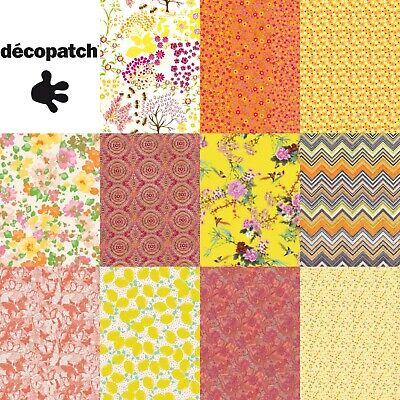 Decopatch Decoupage Paper Yellow Orange Peach Gold Metallic Bright Summer Colour • 0.99£