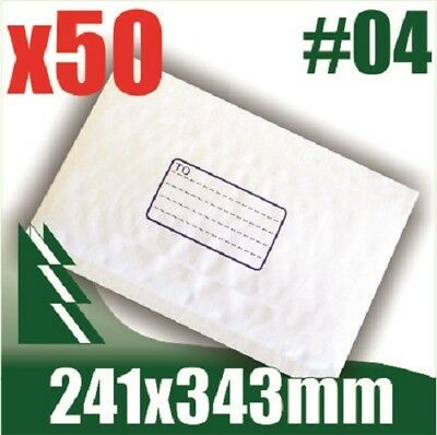 AU19.99 • Buy #04 X 50 Bubble Mailers 241x343mm Padded Bag Envelope B4 BM4 #4