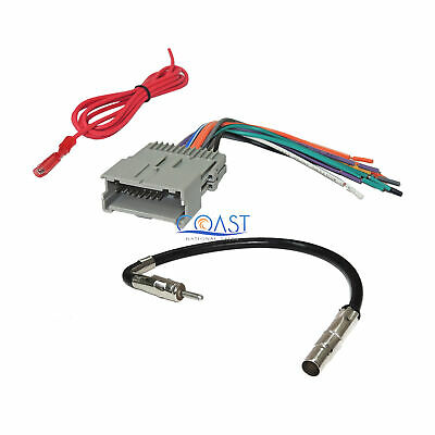 $9.99 • Buy Car Radio Stereo Wire Harness Antenna Combo For 1992-up GM Chevy Isuzu Pontiac