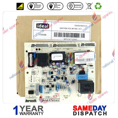 IDEAL MINI C24 C28 C32 & S24 S28 BOILER FULL SEQUENCE PCB 172548 See List Below • 28£