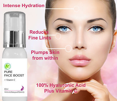 AU27.75 • Buy Pure 100% Hyaluronic Acid + 20%Vitamin C Anti Ageing Skin Plumping Serum 60 Ml