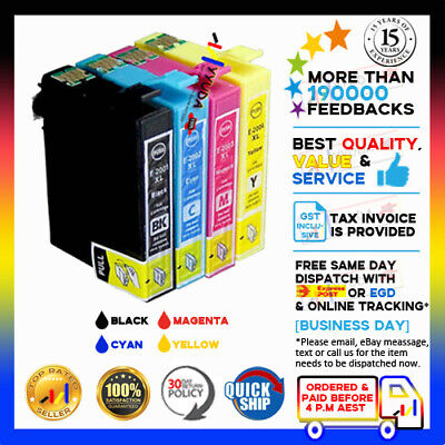 AU15.50 • Buy 8xYYUDA  NoN-OEM Ink 200XL Alternative For Epson WF2510 Workforce WF2530 XP410