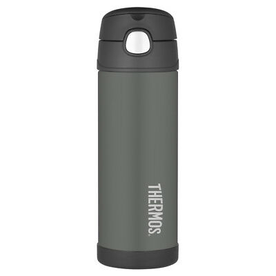 AU32.95 • Buy THERMOS Funtainer 470ml Vacuum Insulated Beverage Bottle Charcoal! RRP $39.95!