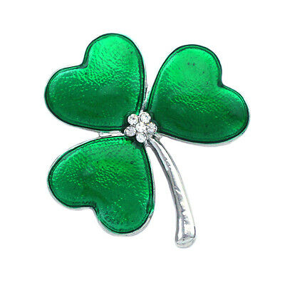 £7.07 • Buy Heart Shaped Leaf Green Clover Shamrock Brooch Pin St. Patrick's Day Gift