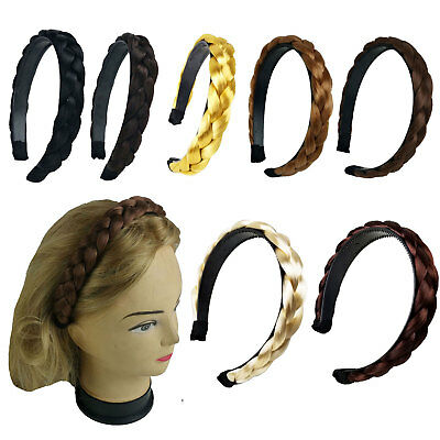 $4.99 • Buy Hair Braided Plaited Headband Synthetic Hairband For Women Girls