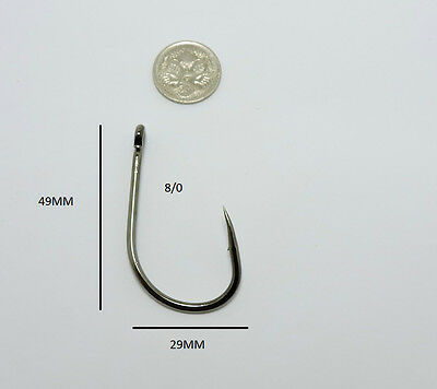 AU6.50 • Buy 10 8/0 Live Bait Hooks Chemically Sharpened
