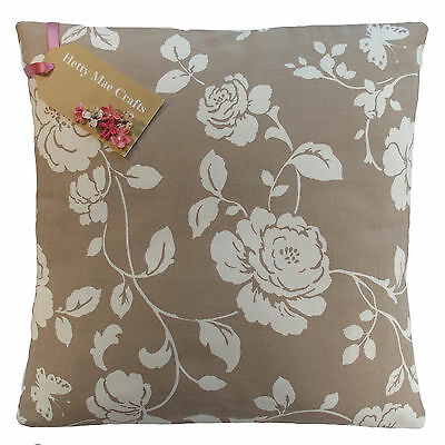 £6.75 • Buy Designer Clarke And Clarke Meadow Taupe Beige Fabric Cushion Cover