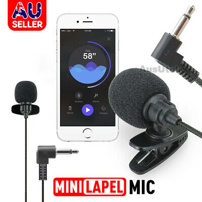 AU6.95 • Buy Lavalier Microphone 3.5mm Lapel Clip-on Mic For IPhone & Android Smartphones