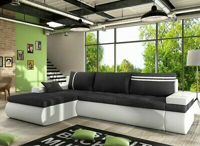 Corner Sofa Bed OSLO With Storage Container Sleep Function New • 575£