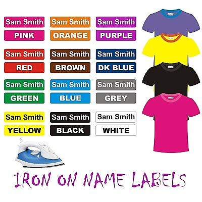 AU6.95 • Buy Name Labels Iron On 42pcs 30x09mm Clothing School Day Care Tag Clothes Aged Bag