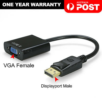 AU6.95 • Buy Displayport Display Port DP Male To VGA Female Video Converter Adapter Cable PC