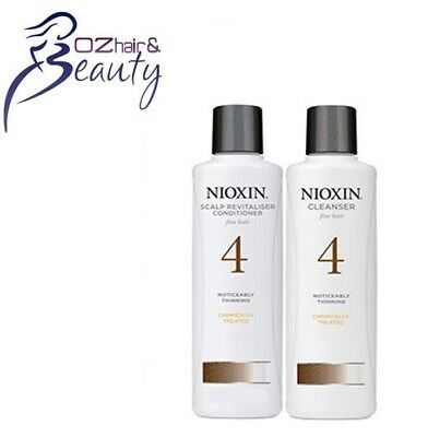 AU48.95 • Buy Nioxin System 4 Cleanser Shampoo & Scalp Revitaliser Conditioner 300ml Duo Pack