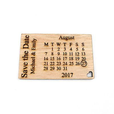AU26.98 • Buy Personalised Wooden Save The Date Fridge Magnets. Wedding Invitations Calendar