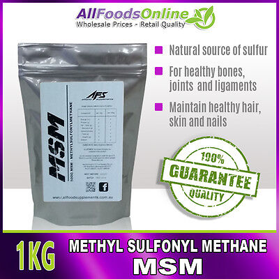 AU26.95 • Buy MSM - Methyl Sulfonyl Methane - Bone, Joint And Ligament Support - Pure - 1kg