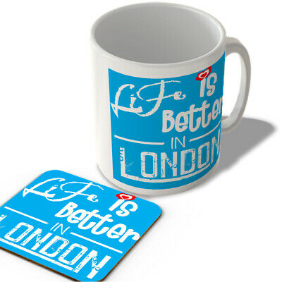 Life Is Better In London - Mug And Coaster Set • 11.99£