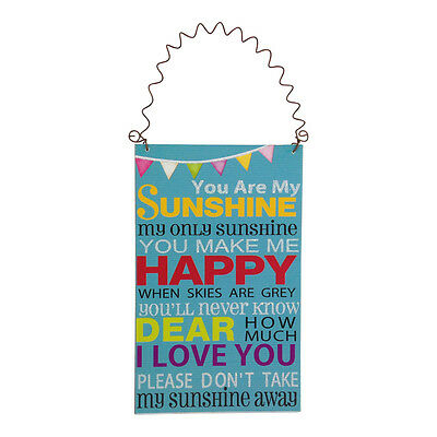 You Are My Sunshine Small Plaque – Children Sign Wooden Picture Hanging Blue  • 4.46£