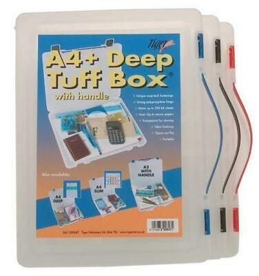 A4+ Deep Tuff Storage Box With - Handle Assorted Clip Colour Document Paper  • 7.99£