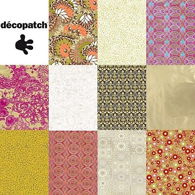 £0.99 • Buy Decopatch Decoupage Paper Gold Golds Metallic Shiny Christmas Gilded Colours