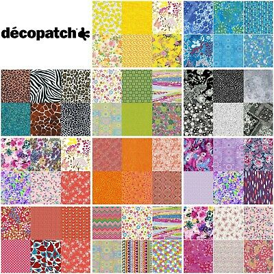 £4.99 • Buy Decopatch Paper For Decoupage Party Pack! *6 A4 Sheets* Mixed Colours & Designs
