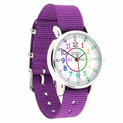 £22.99 • Buy Children's Easyread Learn To Tell The Time Childs Watch Purple