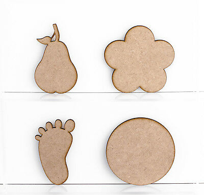 Wooden 3mm MDF Shapes Butterfly Dragonfly Bunting Teddybear Decoration Craft • 1.60£