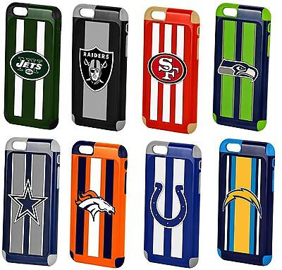AU14.65 • Buy IPhone 6s 6 Official Licensed NFL Football 3D Team Logo Dual Layer Hybrid Case