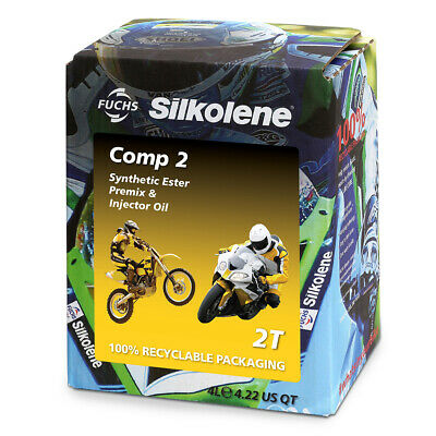 Silkolene Comp 2 2T 2 Stroke Motorcycle Bike Engine Oil 4 Litre Lube Cube • 36.97£