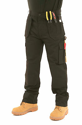 £25.95 • Buy Mens SITE KING Heavy Duty Cargo Holster Pocket Work Trousers Size 30 To 42 - 007
