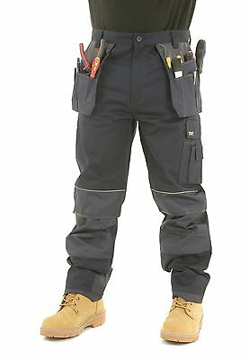 £29.95 • Buy Mens SITE KING Heavy Duty Cargo Holster Pocket Work Trousers Size 30 To 42 - 008