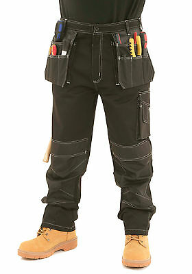 £27.95 • Buy Mens Heavy Duty Cargo Holster Pocket Work Trousers Size 30 To 42 By SITE KING 09