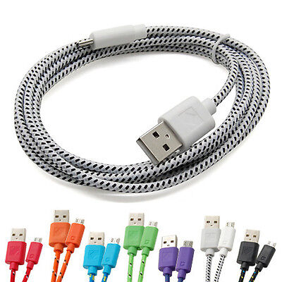 $ CDN3.99 • Buy 1/2/3M Strong Braided Micro USB Data Sync Charger Cable Lead For Samsung Galaxy