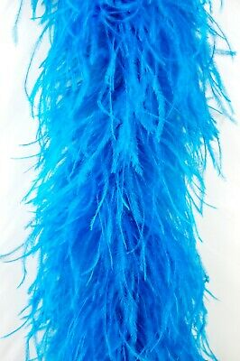 £64.46 • Buy 4 Ply OSTRICH FEATHER BOA - TURQUOISE 2 Yards Costumes