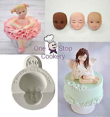 £109.72 • Buy Katy Sue HEAD FACE Character Figure Silicone Sugarcraft Cake Mould - Set A Craft