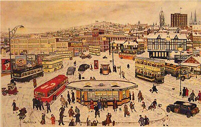 Terry Gorman Mounted Print - CITY FROM MIDLAND STATION • 22.50£