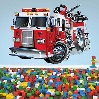 £14.98 • Buy Red Fire Engine Wall Sticker WS-41167