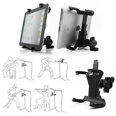 £5.96 • Buy 360° Rotation Stage Music Microphone Stand Holder Mount For 7-11 Inch Tablet PC