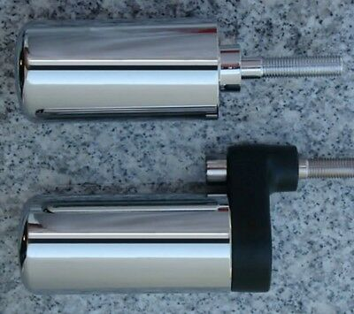 $19.95 • Buy 2001-2002 Suzuki GSXR1000 GSXR 1000 CHROME FRAME SLIDERS