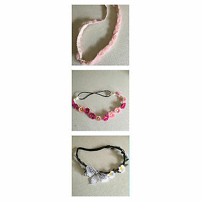 £4.99 • Buy Summer Headband..pink Roses..bright Flowers..daisy..one Size..brand New..summer