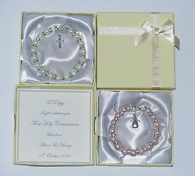 First Holy Communion Gift, Or Confirmation Present. ** Personalised Bracelet **. • 8.99£