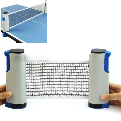 AU25.99 • Buy Portable + Retractable Table Tennis Net Ping Pong Replacement Net Rack