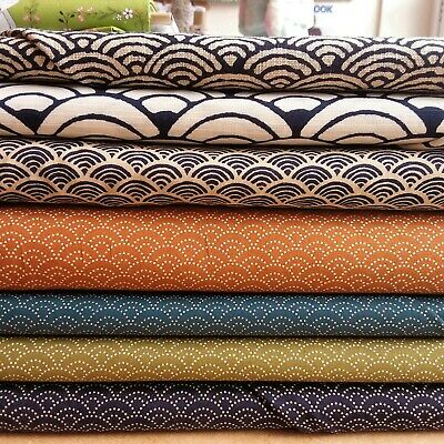 £7.50 • Buy Japanese Cotton Fabric With Wave Design, Sevenberry 100% Cotton 44  Wide