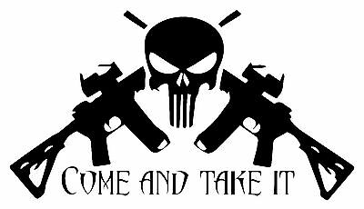 $7 • Buy Punisher Come And Take It Decal 4X4  Sig 2A Off Road Smith Sticker USA Jeep Sig