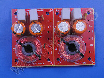 $ CDN10.77 • Buy 2PCS 2 Way 2 Unit Audio Speaker Crossover Filters Hi-Fi Stereo Frequency Divider