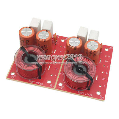 $ CDN11.71 • Buy 2PCS 2 Way 2 Unit Audio Speaker Crossover Filters Hi-Fi Stereo Frequency Divider