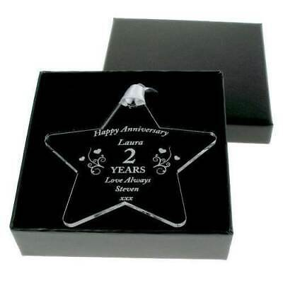 Personalised Anniversary Star, Romantic Gifts For Her. Wedding Anniversary Ideas • 7.99£