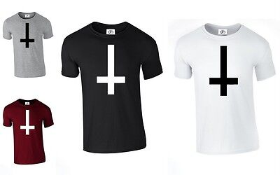 £4.45 • Buy Inverted Cross Wasted Youth Tumblr Anti T-shirt Hipster Dope (L.CROSS, TSHIRT)