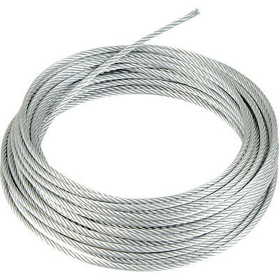 Stainless Steel Wire Rope Cable 1mm 2mm 3mm 4mm 5mm 6mm FREE DELIVERY  UK SELLER • 1.79£