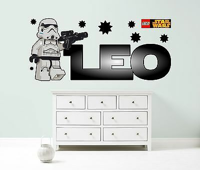 £24.99 • Buy LEGO STAR WARS PERSONALISED WALL STICKER Children's Bedroom Decal Art 3 Sizes