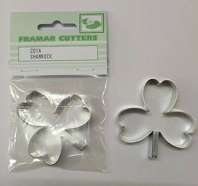 Shamrock - Large Cake Decorating Metal 201A  By Framar Cutters • 4.65£