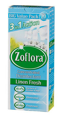 Zoflora Concentrated Antibacterial Triple Action Disinfectant Linen Fresh 500ml • 6.79£
